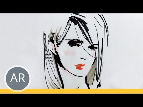 Gesichter zeichnen lernen und vereinfachen. Porträts skizzieren. Mappenkurs Kunst