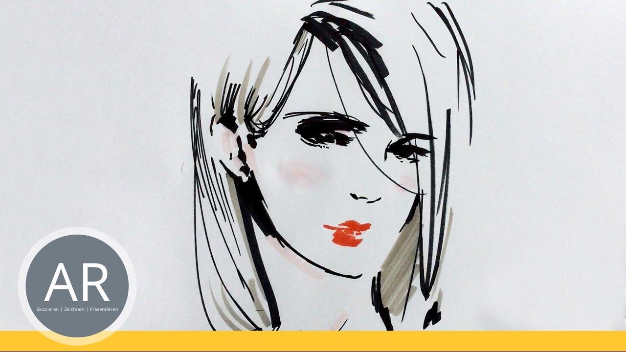 gesichter zeichnen lernen und vereinfachen portr ts skizzieren mappenkurs kunst youtube. Black Bedroom Furniture Sets. Home Design Ideas