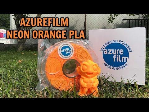 AZUREFILM NEON ORANGE PLA - PERFECT 3D PRINTING