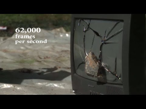 Crashing TV with a Rock in Super Slow Motion | Slow Mo Lab