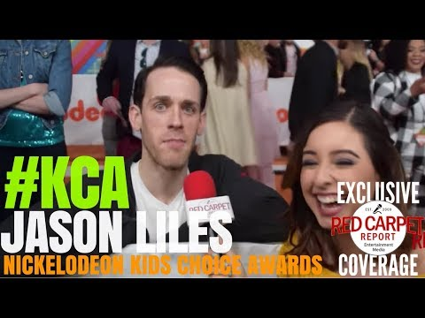 Jason Liles #DeathNote interviewed at 2018 Kid's Choice Awards Orange Carpet #KCA