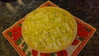 Вкусный рецепт салата Нежность из пекинской капусты с курицей.