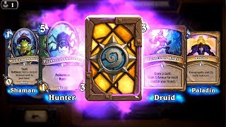 Cathedral Gargoyle and Coffin Crasher - The Witchwood Hearthstone epic and rare card pack opening