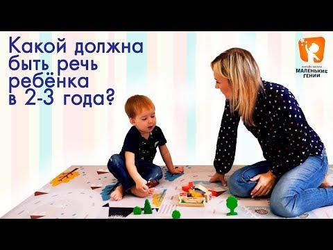 Речь ребенка в 2 - 3 года.