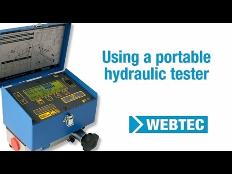 How To Carry Out A Hydraulic Cylinder Test Using A Webtec Portable Hydraulic Tester