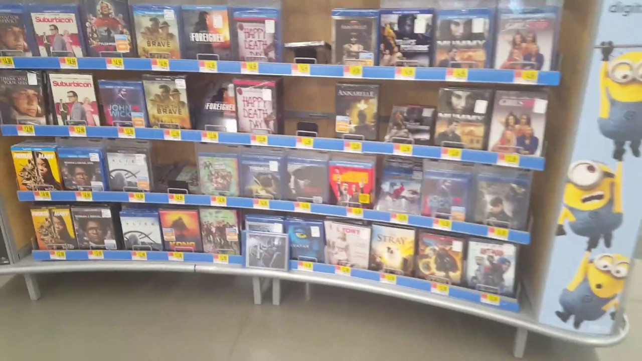 Walmart Entertainment Section Store Tour Dvd And Blu-Ray -5653