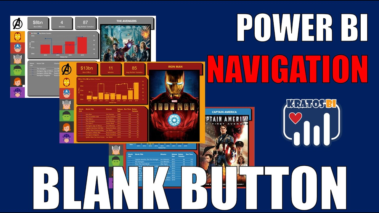 Power BI Navigation with the Blank Button