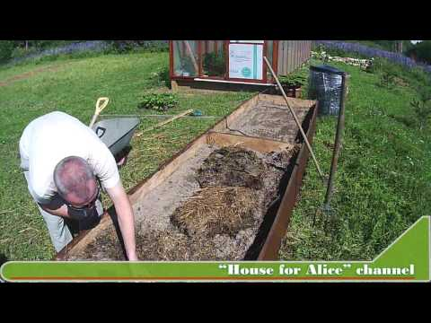 Высокая компостная грядка для участков с плохой почвой