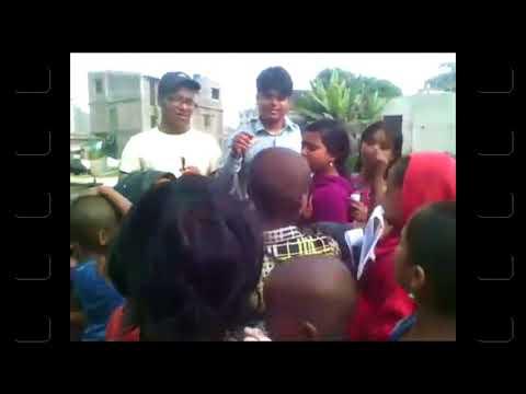 Few slum children are learning song