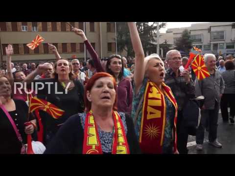 Macedonia: Thousands rally in Skopje against pro-Albanian govt.