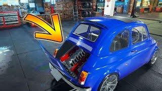 LE GRAND JOUR , INSTALLATION DU MOTEUR V8 SUR FIAT 500 !