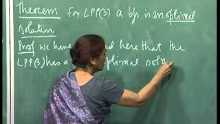 Mod-01 Lec-07 Representation theorem, LPP solution is a bfs, Assignment 1