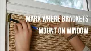 Easy How To Install A Roman Natural Window Shade Video