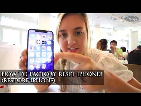 How to Factory Reset iPhone!! 2019 (Restore iPhone)