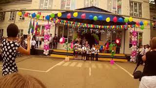 День знаний. школьная линейка Нефтегорск Апшеронский район. Казачий класс