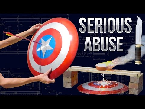 Destroying Captain Americas Shield - Real Life