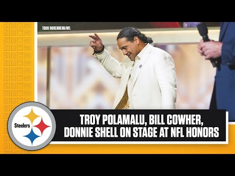 Hall of Famers Troy Polamalu, Bill Cowher, Donnie Shell announced on stage at NFL Honors