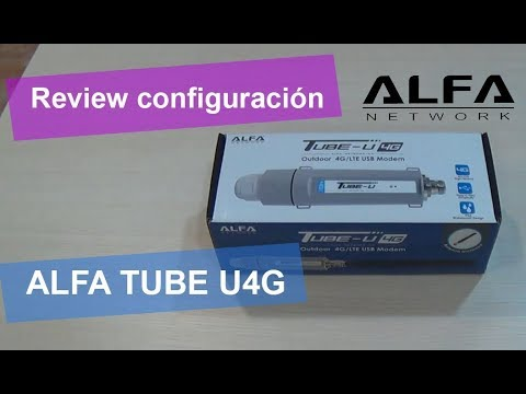 Configuración ALFA TUBE U4G para tener acceso a Internet desde cualquier lugar