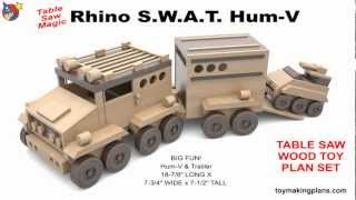 Wood Toy Plans - Rhino Hum-v And Tank