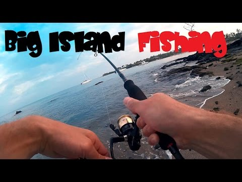 Big Island Hawaii Shore Surf Fishing