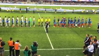 Jeff Pope Sings The Canadian and American National Anthems Before The SJ Earthquakes Game