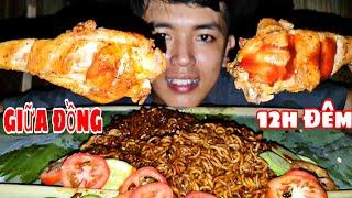 Làm Mâm Mỳ Tương Đen Hàn Quốc | Ăn Giữa Đồng Ruộng Lúc 12h Đêm