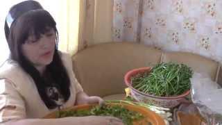 279. Видео урок. Заготовка зелени лука, перо чеснока на весну