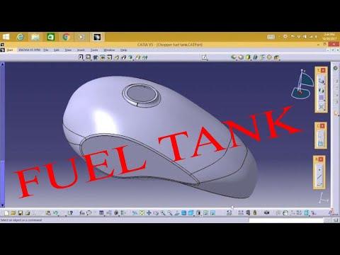 Catia V5 - Chopper Fuel Tank