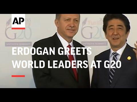 Erdogan greets world leaders at G20