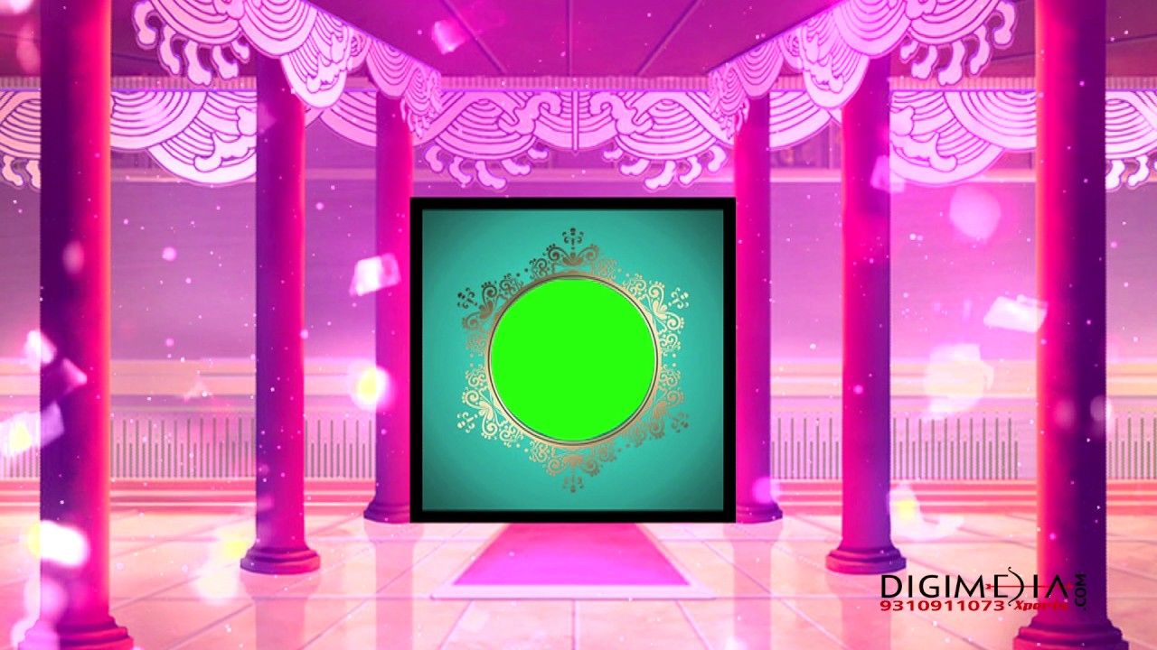 Free Download Wedding Background Hd Green Screen Background Pink Ring Mandap Background Youtube