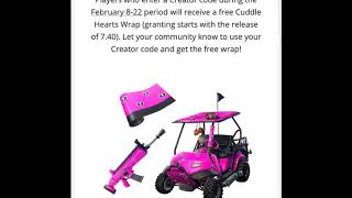 FORTNITE HOW TO GET *NEW* LEAKED CUDDLE HEARTS WRAP FOR THE CUDDLE TEAM LEADER!!!