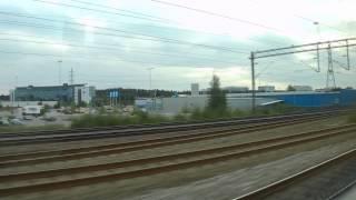 Arlanda Express: Airport - Stockholm central station / アーランダ空港からストックホルム中央駅まで全部
