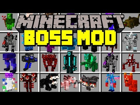 Minecraft BOSS MOD! |FIGHT AND SURVIVE AGAINST NEW BOSSES & MORE! | Modded Mini-Game