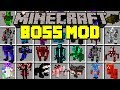 Minecraft BOSS MOD! | FIGHT WORLD'S BIGGEST BOSSES! | Modded Mini-Game