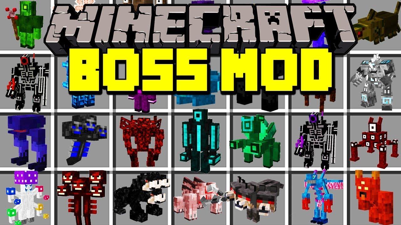 Minecraft BOSS MOD FIGHT WORLD S BIGGEST BOSSES Modded Mini