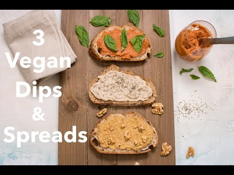 3 Vegan Dips and Spreads Bursting with Flavor! ~ The Seasoned Vegetarian