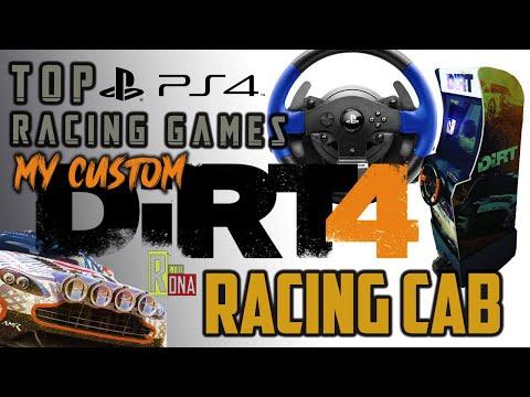 DIRT 4 RACING Arcade1up Mod & Top 3 PS4 Racing Games from RETRO DNA