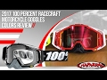 100 Percent Racecraft Motorcycle Goggles 2017 Colors Review