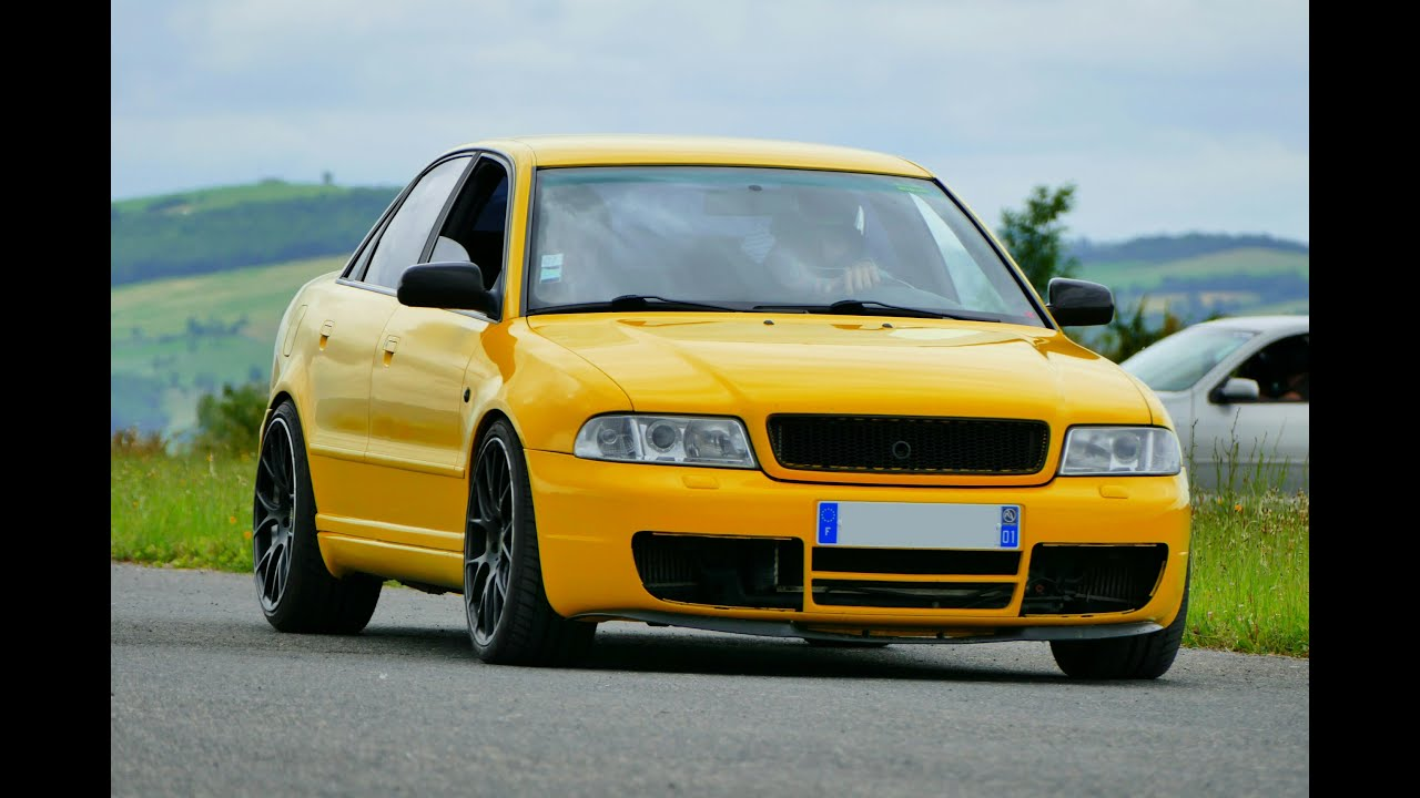450 hp yellow audi s4 b5 revs accelerations and fly by. Black Bedroom Furniture Sets. Home Design Ideas