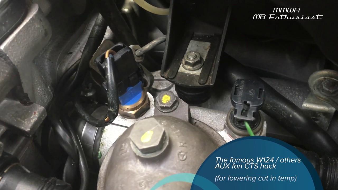 W124 Aux Fan - Lowering Cut In Temp Fan Switch Wiring Diagram Mercedes on