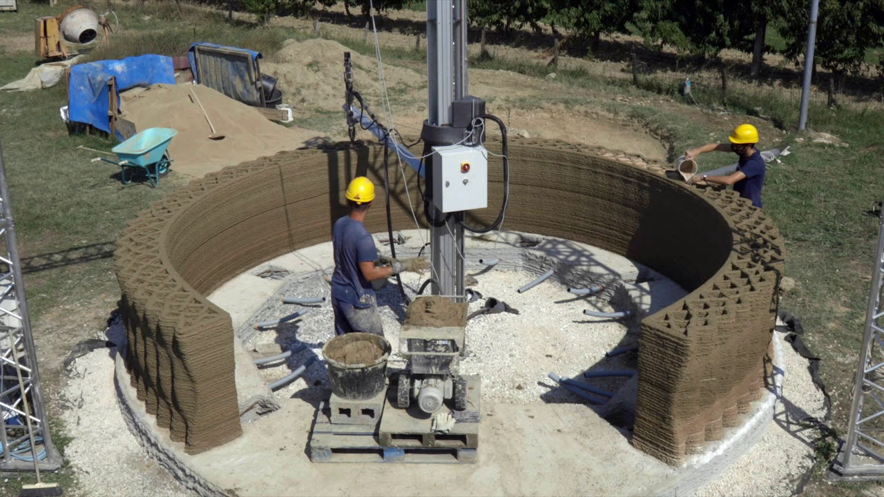 3d printing earth house with crane wasp work in progress - Where can i buy a 3d printed house ...