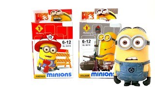 Minion Lego Set unboxing - Fireman and Soldier
