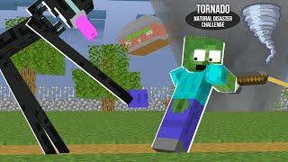Monster School: TORNADO NATURAL DISASTER CHALLENGE - Minecraft Animation