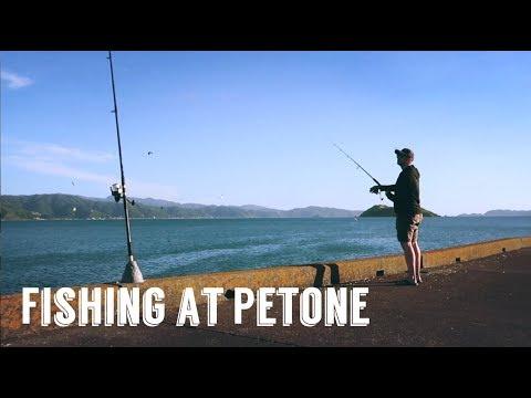 Fishing At Petone Wharf