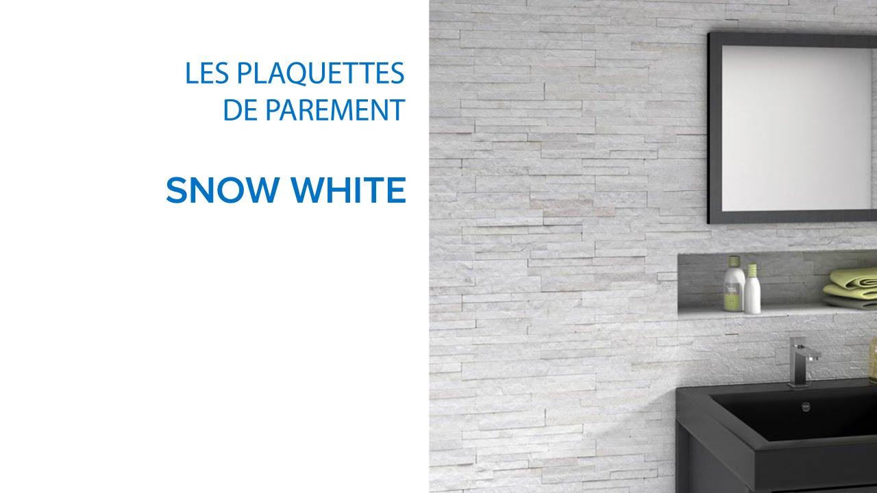 plaquette de parement snow 642164 castorama youtube. Black Bedroom Furniture Sets. Home Design Ideas