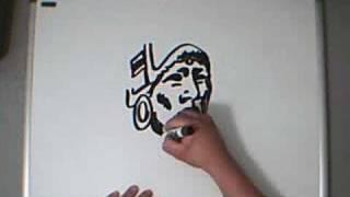 Freestyle Art : Mayan Warrior