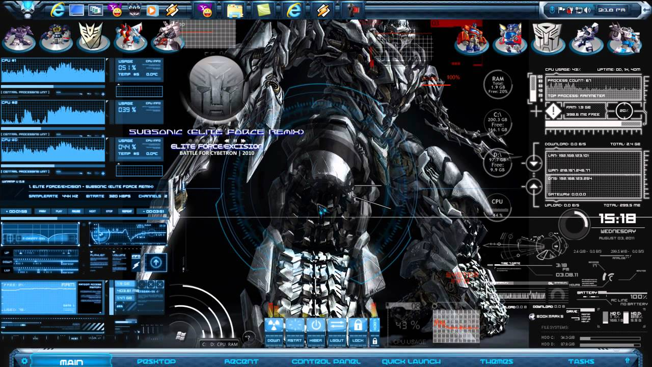 Best 3d Live Wallpaper For Pc Transformers Desktop Themes 2011 Mp4 Youtube