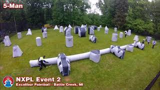 NXPL Event #2 | 5-Man Tournament | Excalibur Paintball Battle Creek Michigan