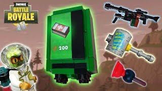 Lego Fortnite - (LMG, Leviathan, Party Animal, Clinger Grenade And Vending Machine)
