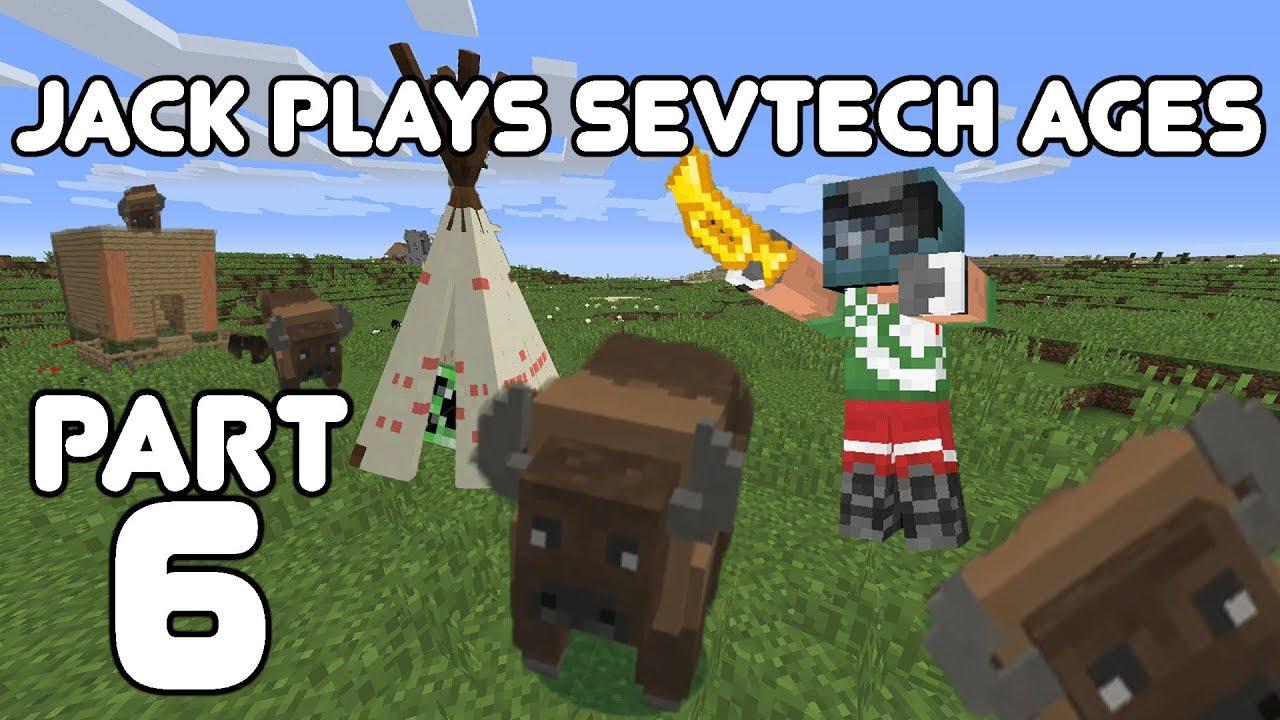 Sharks!? Jack plays Minecraft: SevTech Ages Part 6
